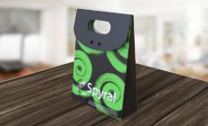 Mini Embalagem de Presente com Verniz Localizado e Hot Stamping