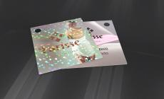 Tag com Laminação Holográfica